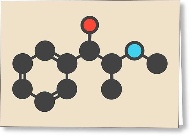 Ephedrine Stimulant Drug Molecule Greeting Card by Molekuul