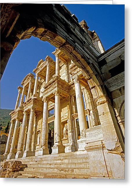 Ephesus Library 2 Greeting Card