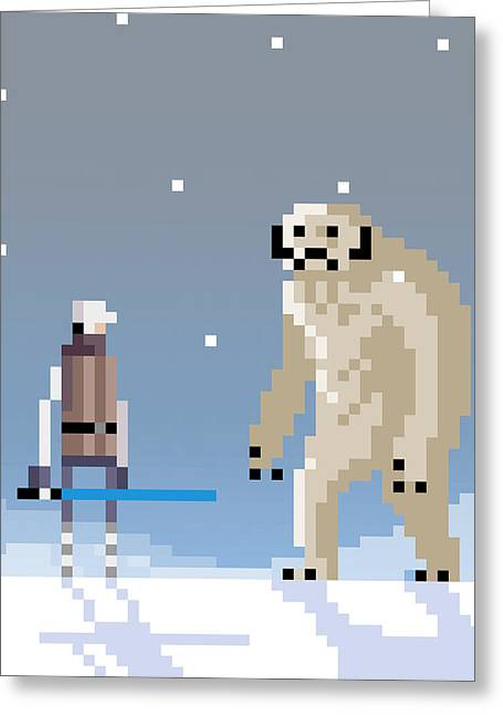 Greeting Card featuring the digital art Epic Battle In The Snow by Michael Myers