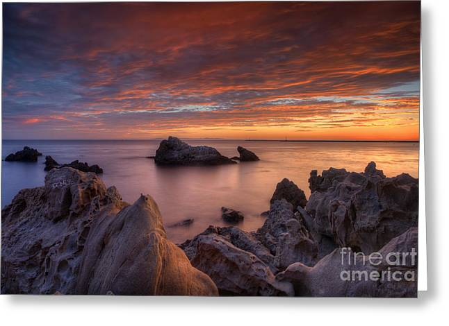 Epic California Sunset Greeting Card by Marco Crupi