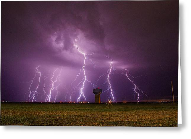 Epic Lightning Greeting Card