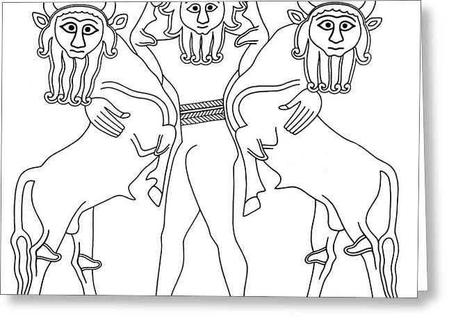 Epic Of Gilgamesh, King Of Uruk Greeting Card by Photo Researchers