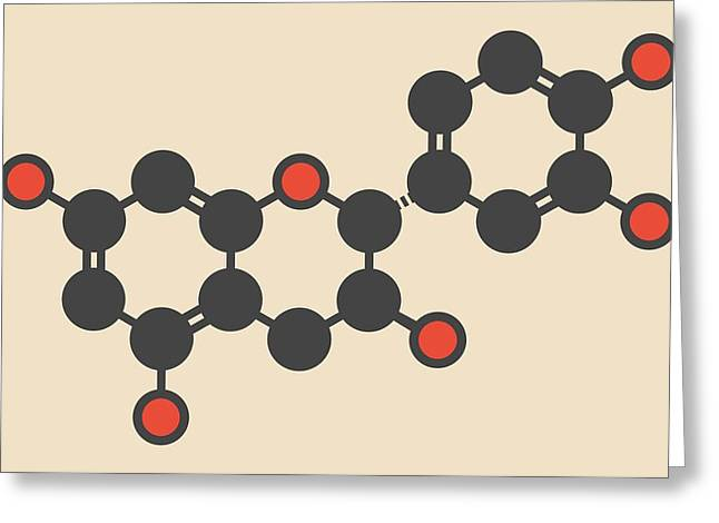Epicatechin Molecule Greeting Card by Molekuul