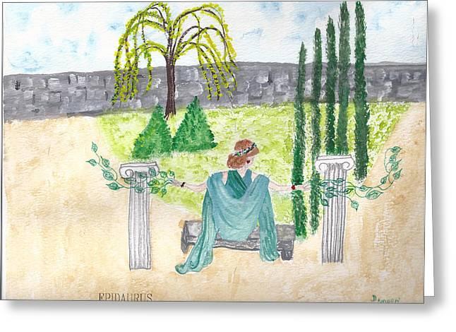 Greeting Card featuring the photograph Epidaurus  by Deborah Moen
