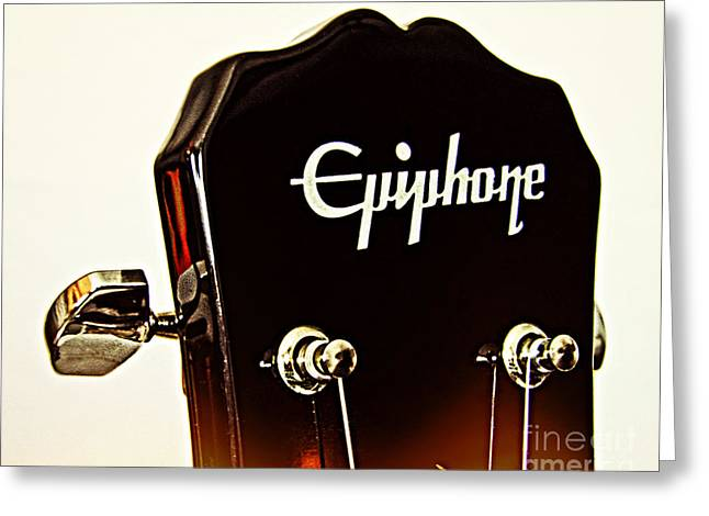Epiphone 2 Greeting Card by Emily Kelley