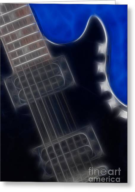 Epiphone Special 2 Les Paul-9691-fractal Greeting Card by Gary Gingrich Galleries