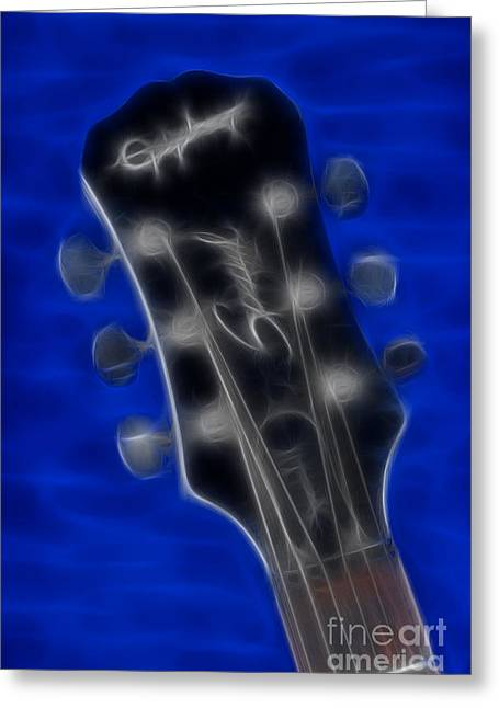 Epiphone Special II Les Paul-9674 Fractal Greeting Card by Gary Gingrich Galleries