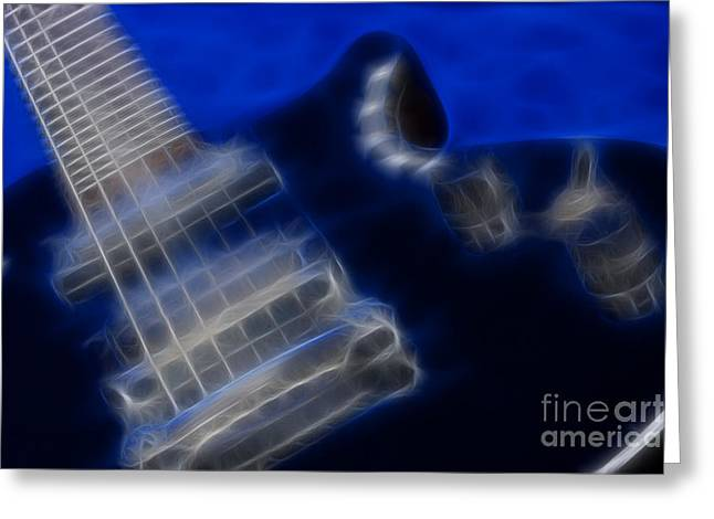 Epiphone Special Ll Les Paul-9729-fractal Greeting Card by Gary Gingrich Galleries