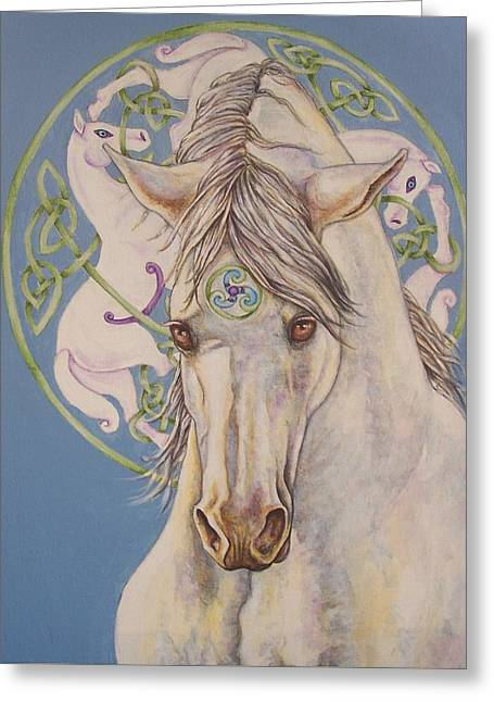 Epona The Great Mare Greeting Card by Beth Clark-McDonal