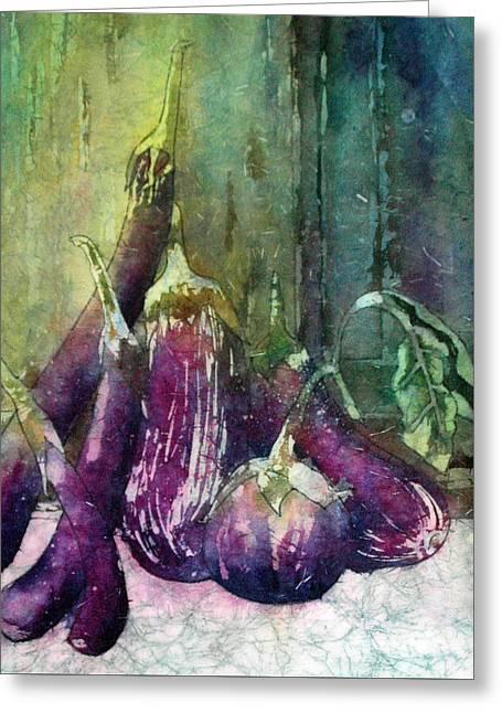 Epplant Or Aubergine Greeting Card