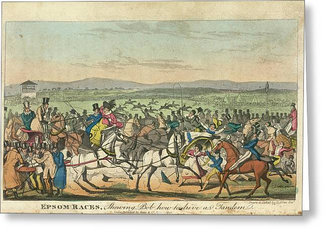Epsom Races Greeting Card by British Library
