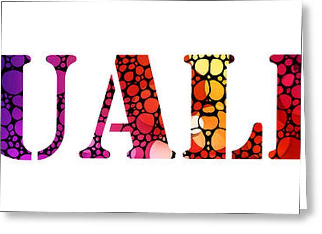 Equality For All 3 - Stone Rock'd Art By Sharon Cummings Greeting Card