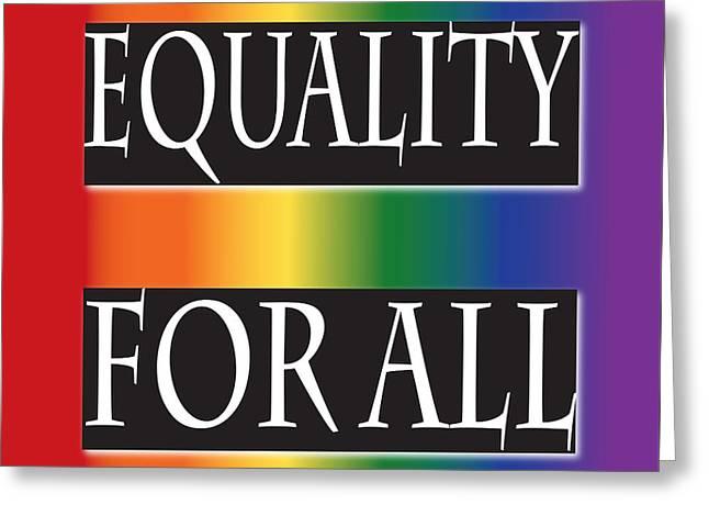 Equality Rainbow Greeting Card