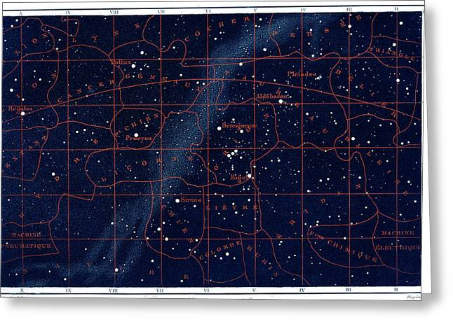 Equatorial Constellations Greeting Card by Collection Abecasis