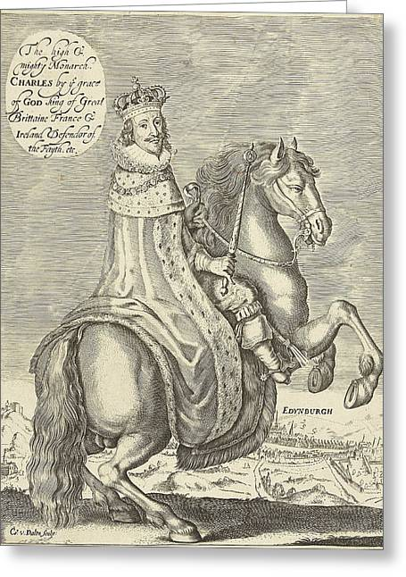 Equestrian Portrait Of Charles I, King Of England Greeting Card