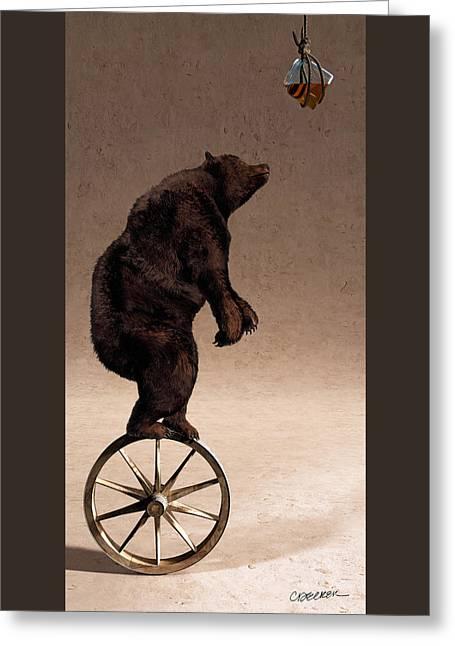 Equilibrium Iv Greeting Card by Cynthia Decker