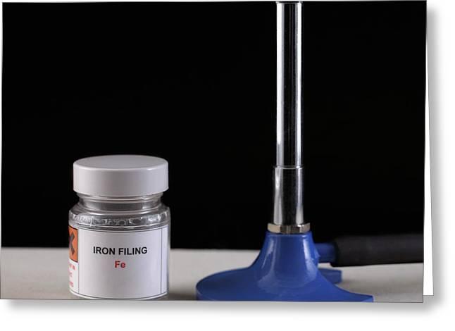 Equipment For Burning Iron Filings Greeting Card