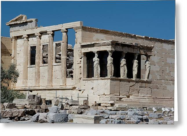 Erechtheion With The Porch Of Maidens Greeting Card