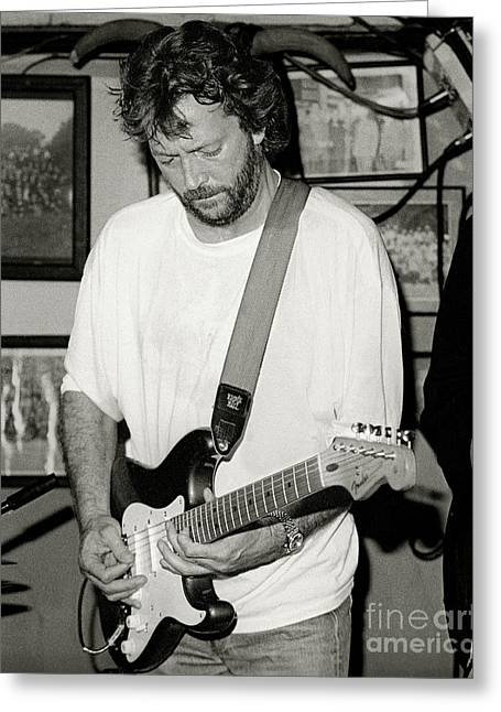Eric Clapton 1988 Greeting Card by Chuck Spang