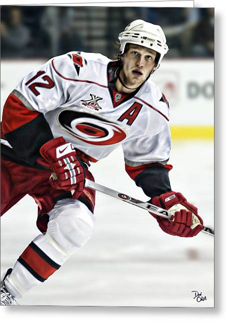 Eric Staal Greeting Card by Don Olea