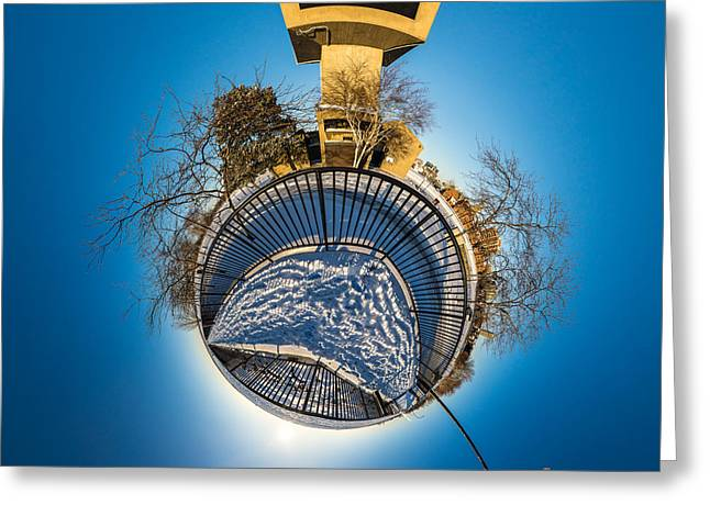 Erie Basin Marina Observation Tower Greeting Card by Chris Bordeleau