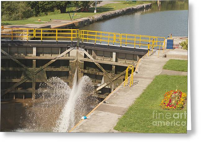 Greeting Card featuring the photograph Erie Canal Lock by William Norton
