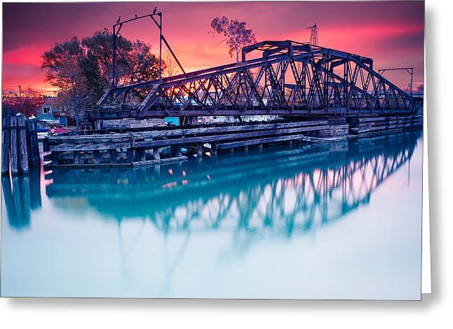 Erie Canal Swing Bridge Greeting Card