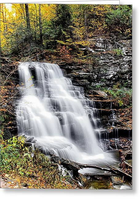 Greeting Card featuring the photograph Erie Falls by David Stine