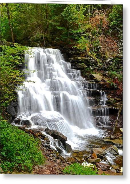 Erie Falls Greeting Card by Frozen in Time Fine Art Photography
