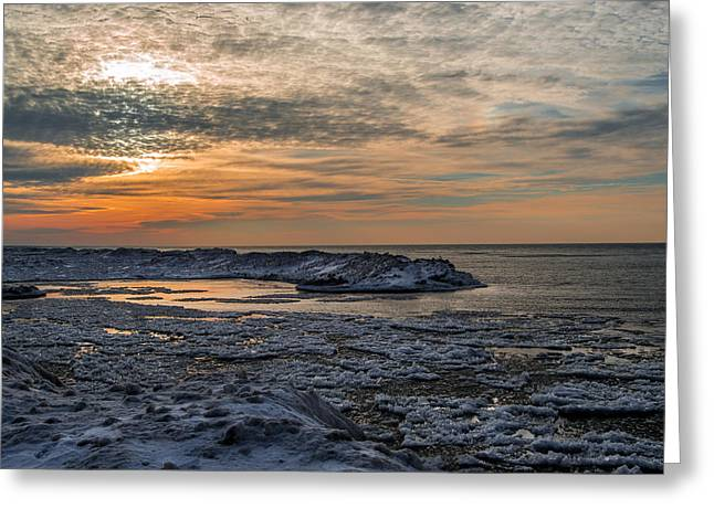 Erie Ice Dunes Greeting Card