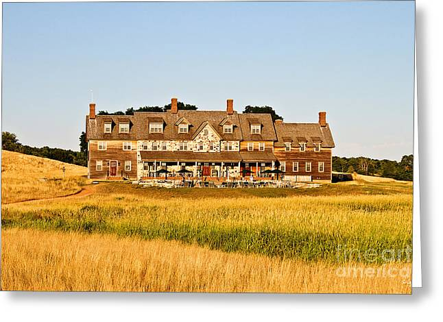Erin Hills Clubhouse Greeting Card by Scott Pellegrin