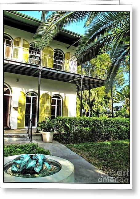 Ernest Hemingway House Greeting Card by Joan  Minchak