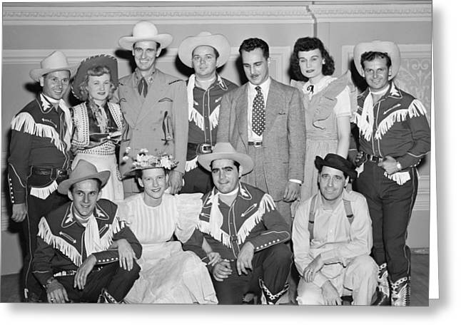 Ernest Tubb Minnie Pearl And Other Grand Ole Opry Stars At Carnegie Hall 1947    Greeting Card by Mountain Dreams