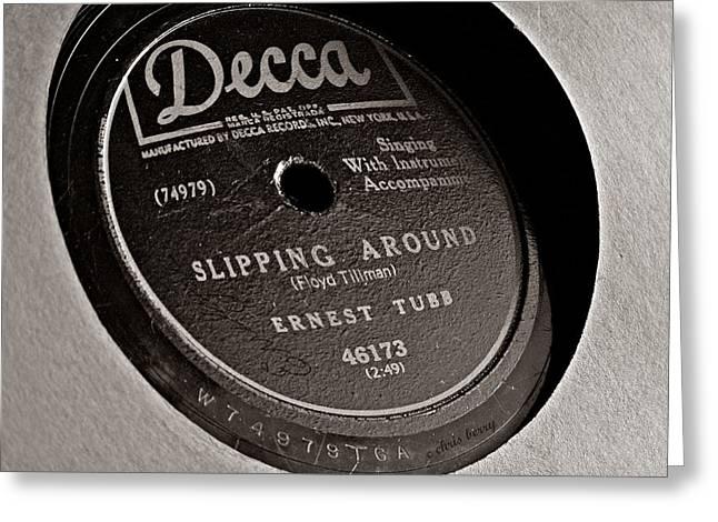 Ernest Tubb Vinyl Record Greeting Card