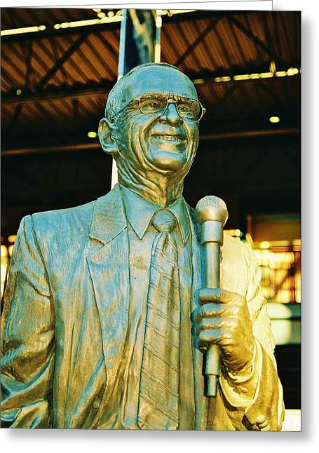 Ernie Harwell Statue At The Copa Greeting Card