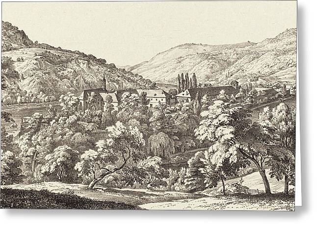 Ernst Fries German, 1801 - 1833, View Of The Convent Greeting Card by Quint Lox