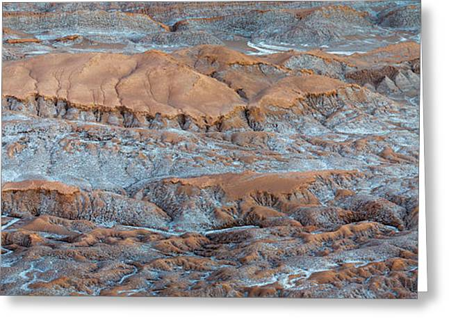 Eroded Hills At Sunset In The Atacama Greeting Card by Panoramic Images