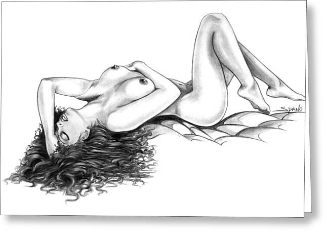Erotic Dreams By Spano Greeting Card by Michael Spano