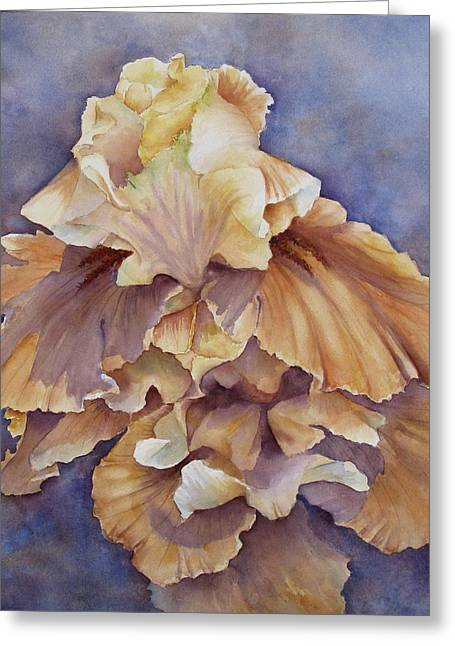 Greeting Card featuring the painting Eruption II--flower Of Rebirth by Mary McCullah