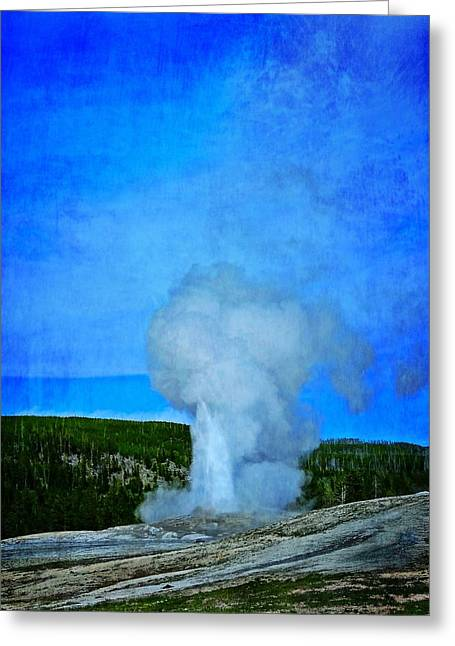 Eruption In Yellowstone Greeting Card by Dan Sproul