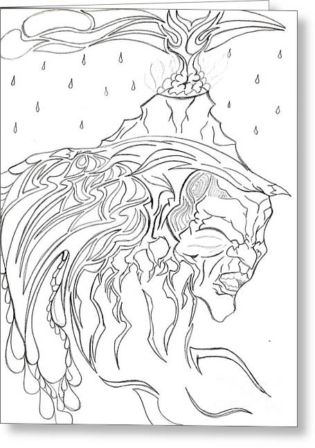 Eruption Of The Mind Mother Earth Greeting Card by Minding My  Visions by Adri and Ray