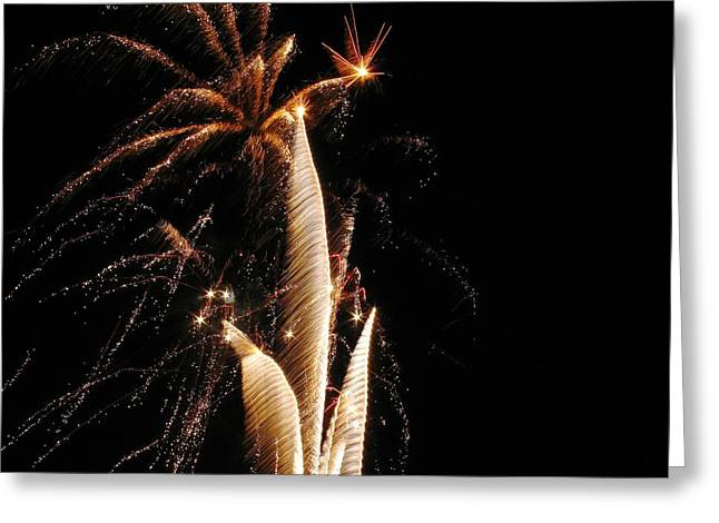 Eruptions In The Night Greeting Card by Steven Parker