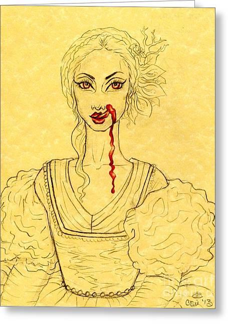 Erzibeth Bathory Greeting Card by Coriander  Shea