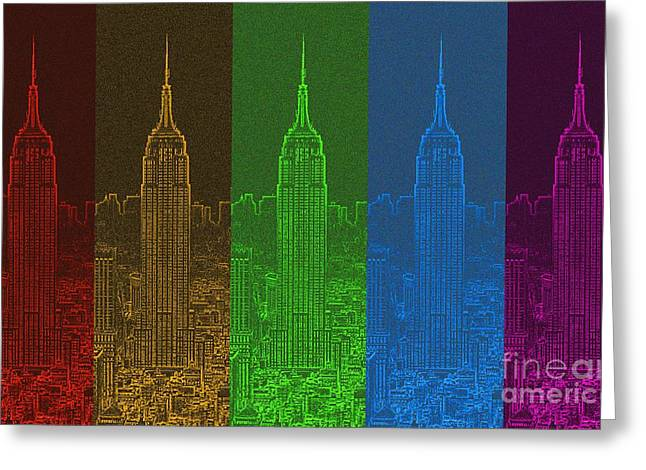 Esb Spectrum Greeting Card by Meandering Photography