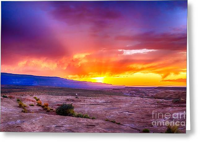 Escalante Sunset 2 Greeting Card by Scotts Scapes