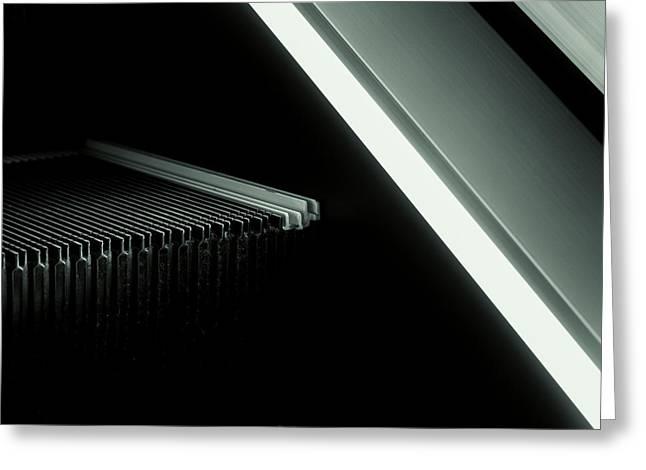 Escalator 04 Greeting Card by Noir Blanc