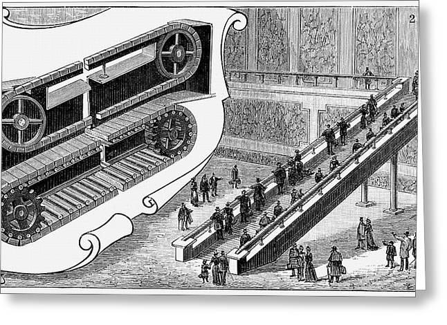 Escalator Greeting Card