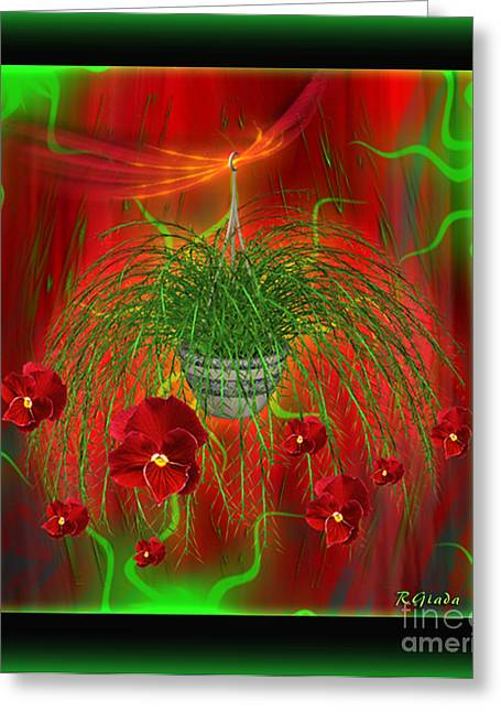 Greeting Card featuring the digital art Escape - Floral Abstract Art By Giada Rossi by Giada Rossi