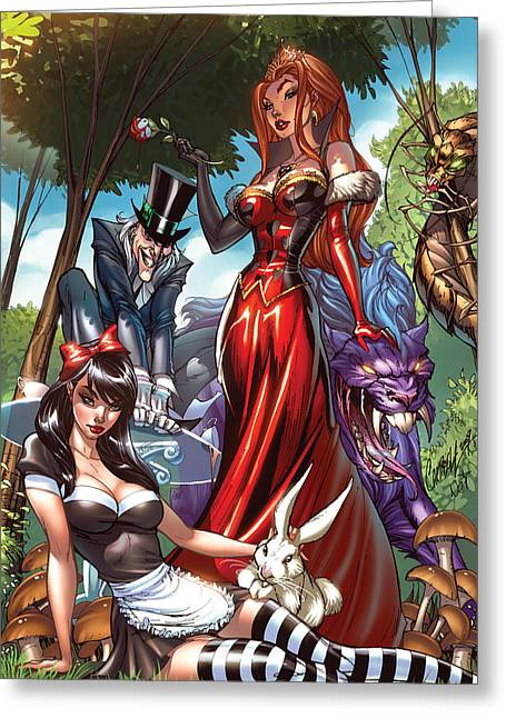 Escape From Wonderland 01a Greeting Card by Zenescope Entertainment