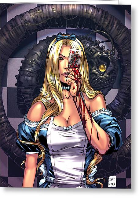 Escape From Wonderland 02c Greeting Card by Zenescope Entertainment